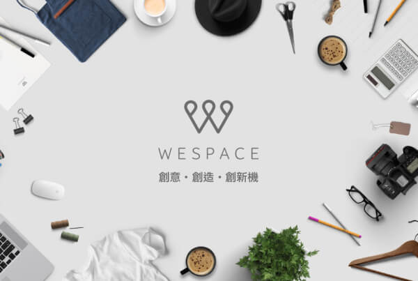 brand identity design wespace 600x403 - The latest creative co-working space in town, WESPACE