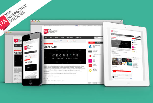 digital agency wecreate selected by top interactive agencies