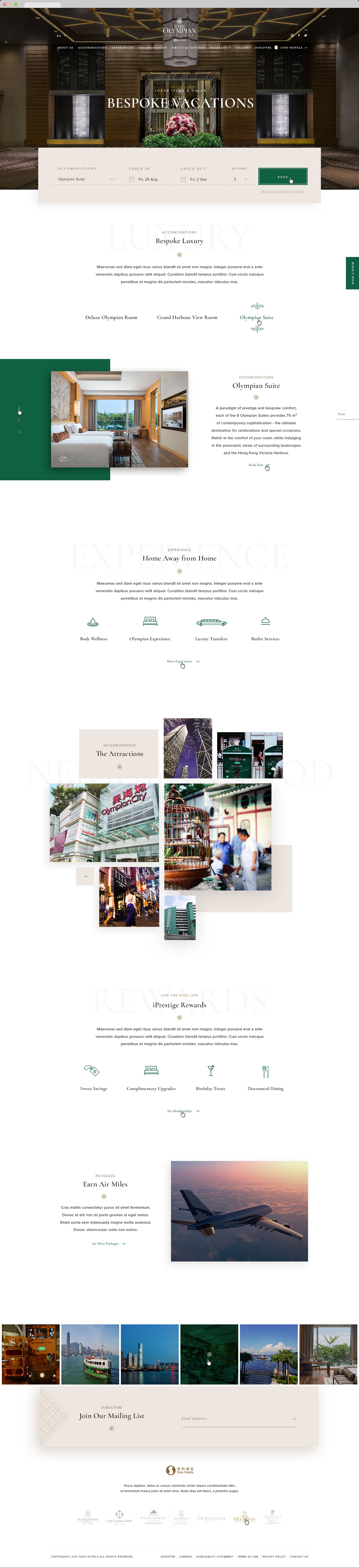 web design hong kong Sino Group Hotels 00