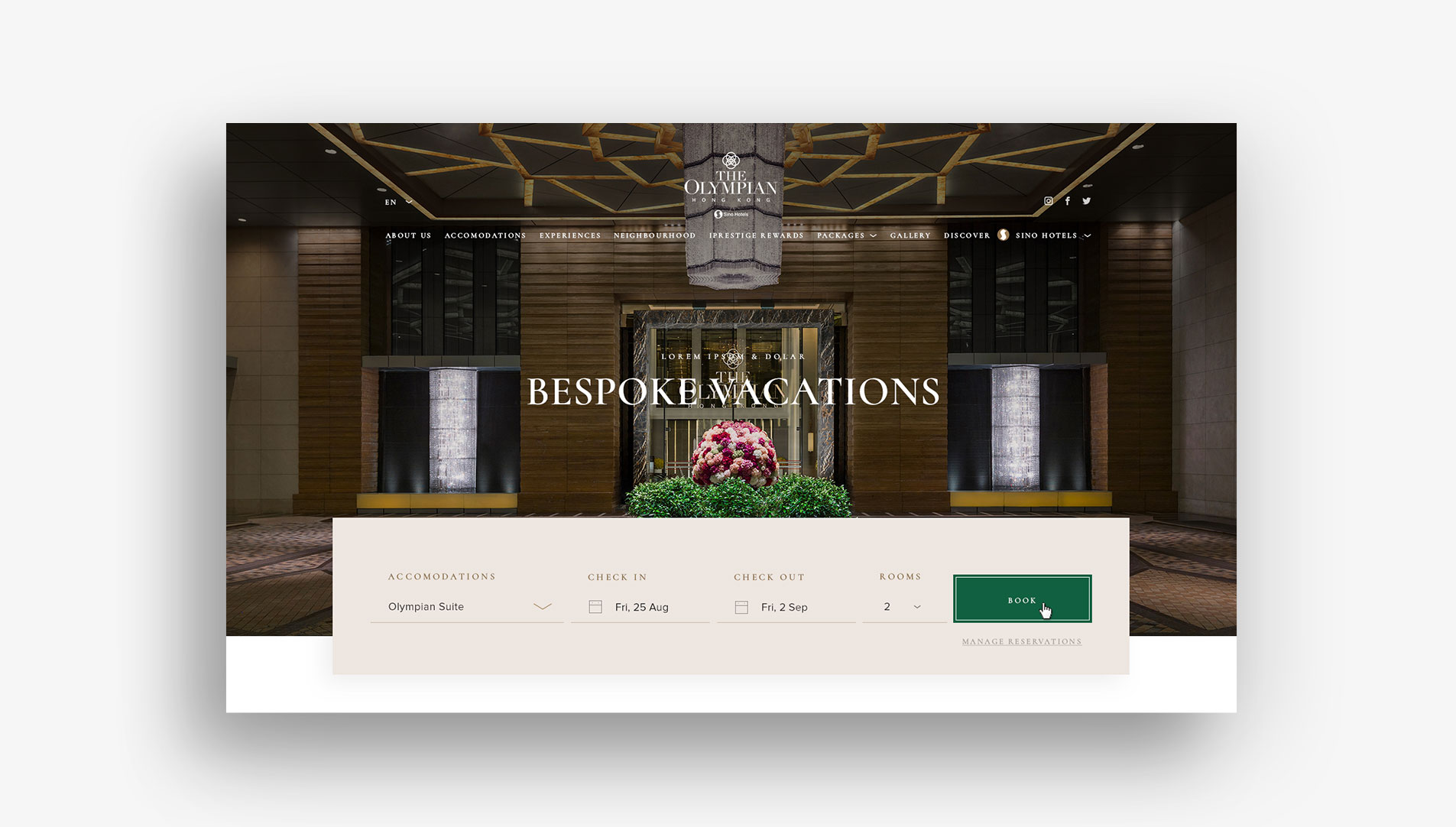 web design hong kong Sino Group Hotels slideshow 01